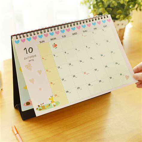 standing desk calendar 2016 calendar totoro minion desktop animal