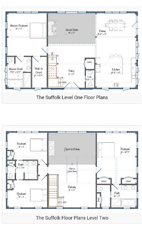 floor plans for 1 story homes 30 barndominium floor plans for different purpose