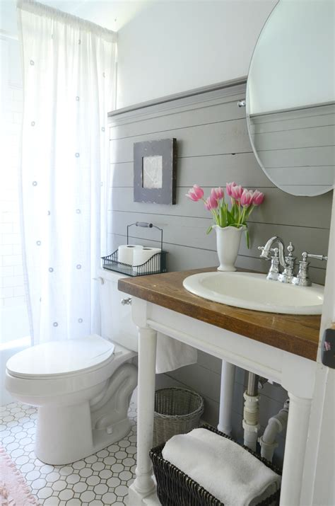 half bath update home stories farmhouse bathroom refresh adoption update beneath my