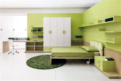 interior design bedroom colors combination of the green color in the interior