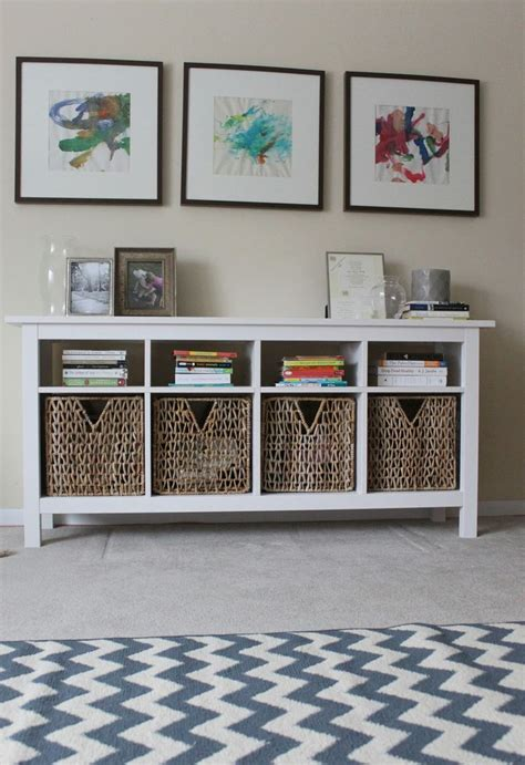 how to use a sofa table use hemnes sofa table as media center below wall mounted