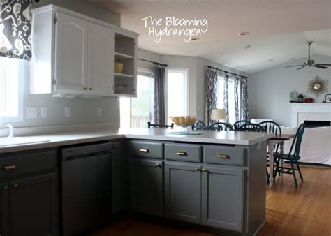 grey and white kitchen cabinets from oak to awesome painted gray and white kitchen