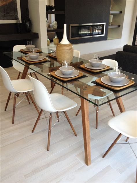 glass dining table sets 6 chairs 25 best ideas about glass dining table on