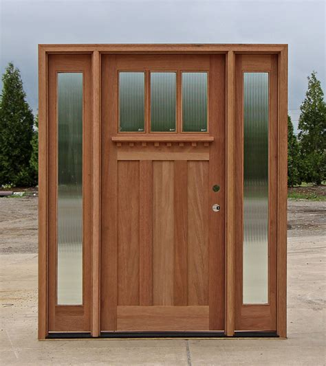 exterior side doors craftsman style doors and sidelights