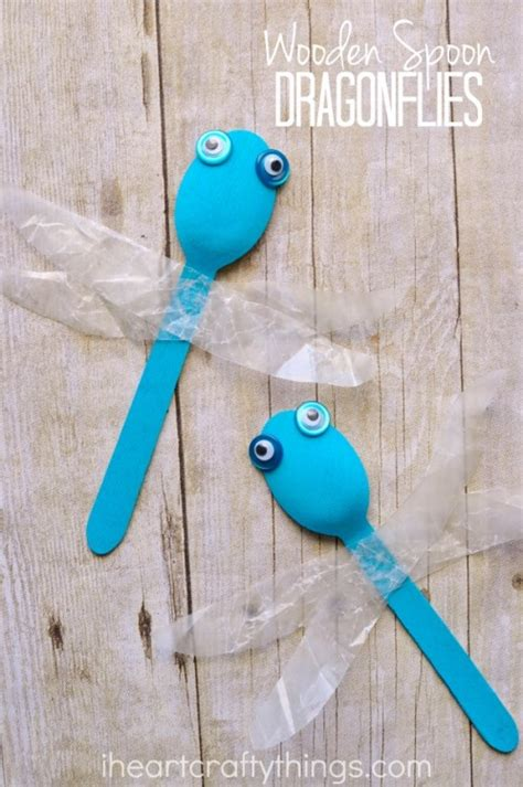 simple craft simple wooden spoon dragonfly craft i crafty things
