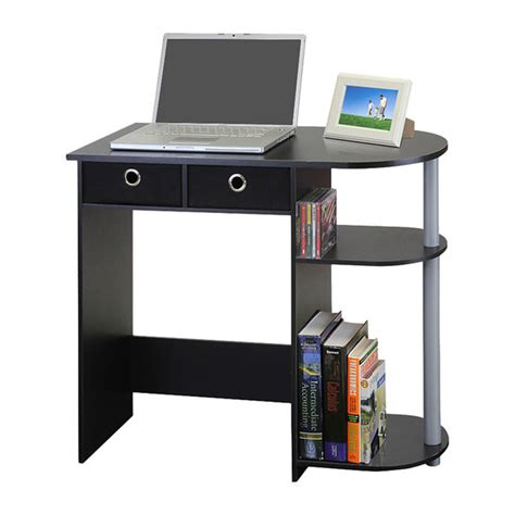 small computer desk black small computer desk writing laptop table drawers home