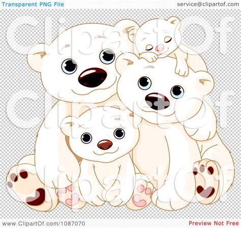 clipart happy polar bear family cuddling royalty free