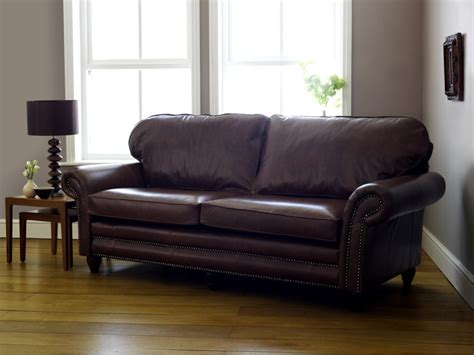 traditional leather sofas cromwell traditional leather sofa click to zoom