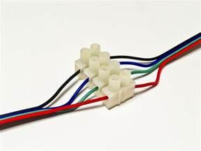 light connectors 4 way rgb terminal block connector 4 wire connectors