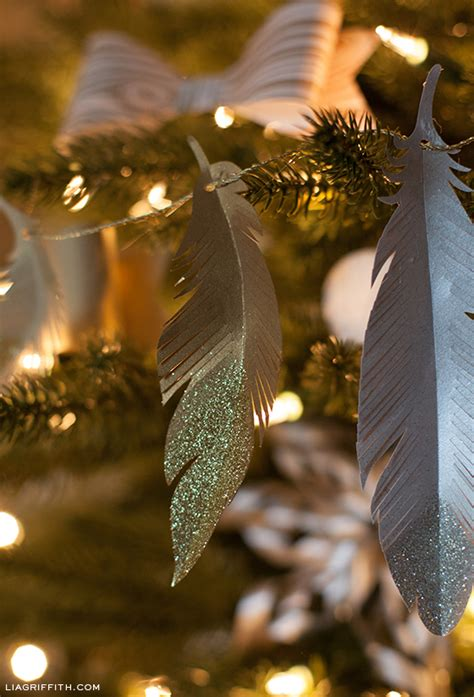 feather ornaments for trees diy paper feather garland and tree ornaments