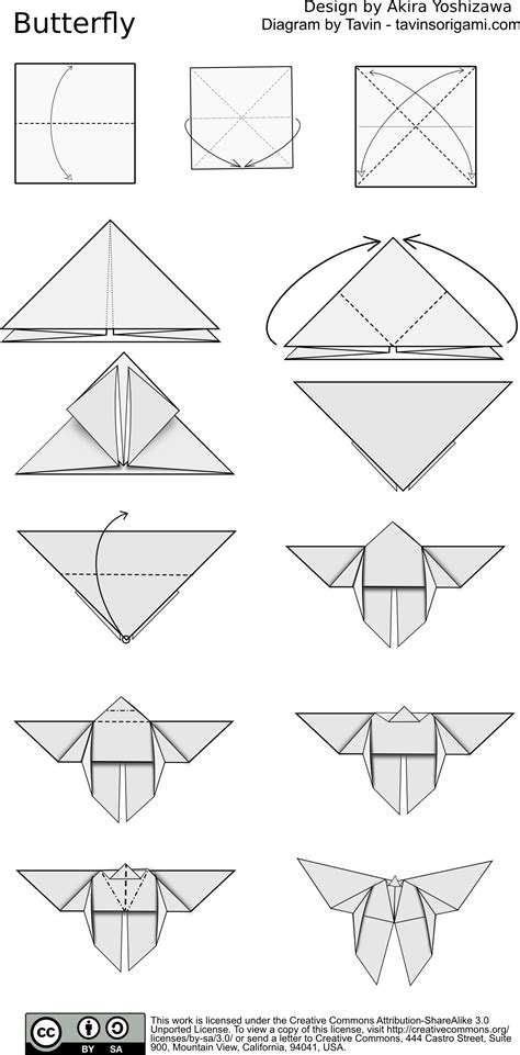 origami butterfly pdf index of diagram