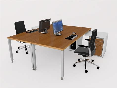 free office desks office desk free 3d model 3ds fbx c4d cgtrader