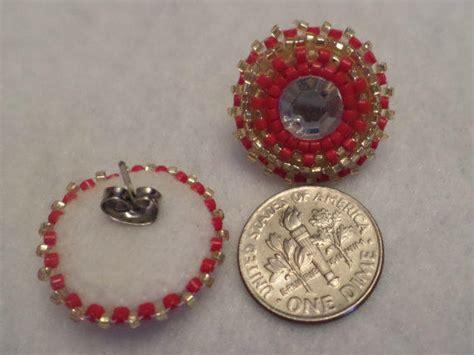 beaded powwow earrings beaded powwow regalia earrings delica from 1nativedezines on