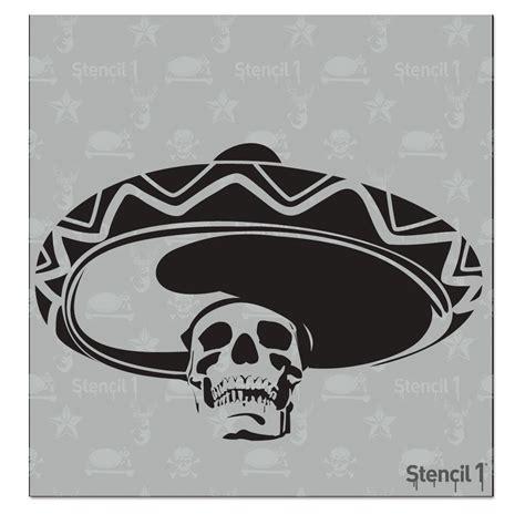 home depot paint stencils stencil1 mexican skull sombrero small stencil s1 01 27 s