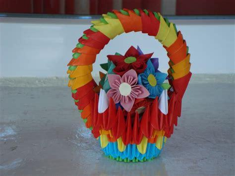 3d origami basket flower basket album zsozso 3d origami