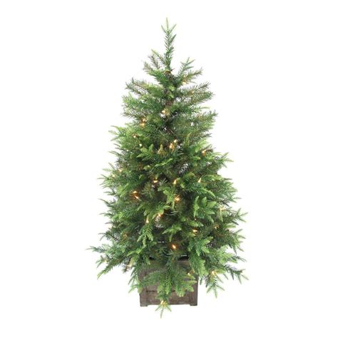 potted pre lit tree home accents 4 ft pre lit grand fir potted