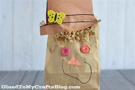 paper bag scarecrow craft paper bag scarecrow kid craft