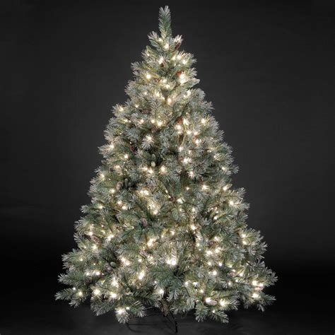 7 ft frosted tree 5ft 7 5ft quot pre lit quot frosted emerald fir tree