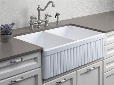 farmer kitchen sink alfi ab537 32 3 4 quot fluted bowl fireclay farmhouse