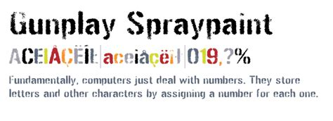 spray paint font lowercase gunplay spraypaint fonts