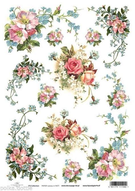 rice paper decoupage rice paper decoupage decopatch sheet vintage flowers