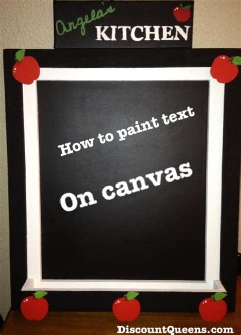 chalk paint on canvas diy how to paint text on canvas discountqueens