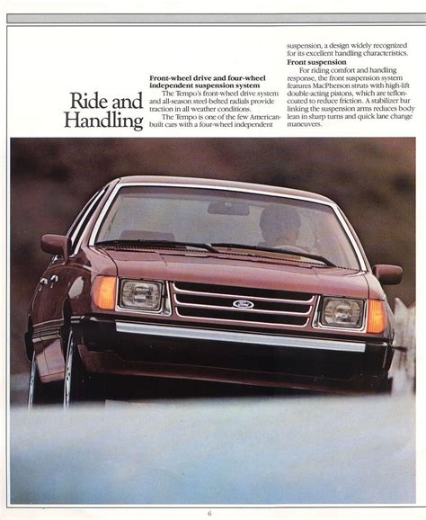where to buy car manuals 1985 ford tempo electronic toll collection ford tempo brochure