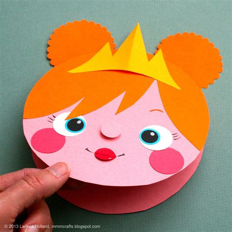 easy crafts with paper mmmcrafts make a princess card gift tag or a