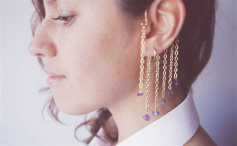 how to make ear cuffs jewelry diy chain accessories part i the ear cuff boat
