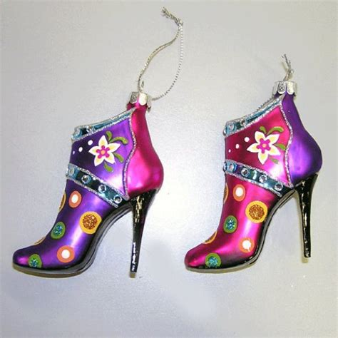 ornament shoes tree glass shoe ornaments it s time