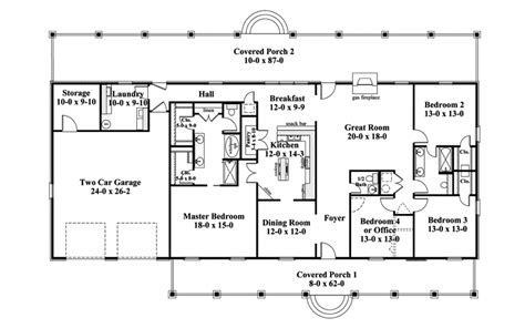 floor plans for 1 story homes one story ranch style house plans traditional house plan
