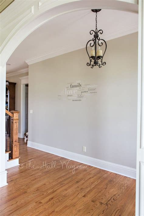 Foyer With Behr Sculptor Clay And Silky White Trim A Bm