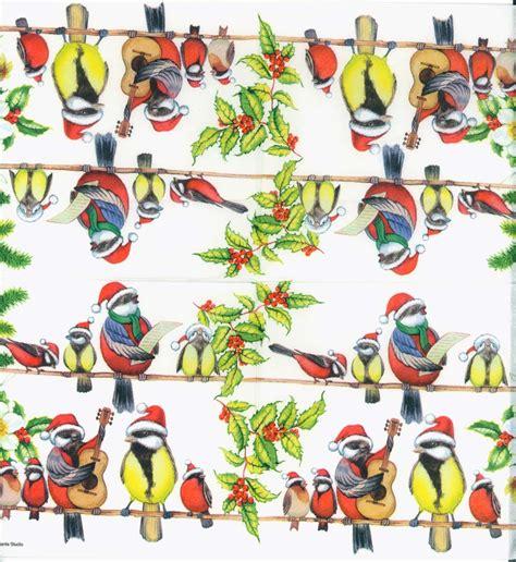 bird decoupage paper decoupage paper napkins of caroling birds