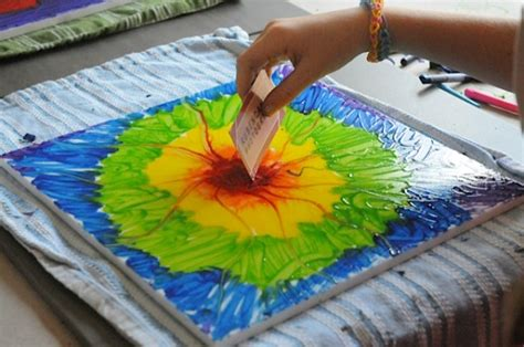 craft painting projects let s make a crayon painting crayon projects