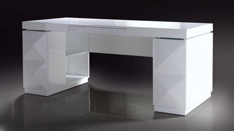 modern white desks 206 white lacquer modern desk