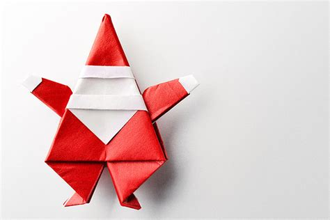 origami santa top 15 paper folding or origami crafts for