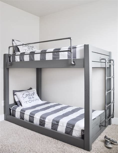 diy bunk beds diy industrial bunk bed free plans cherished bliss