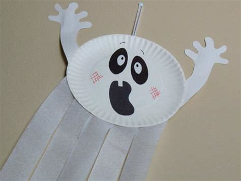 paper plate ghost craft paper plate craft ideas