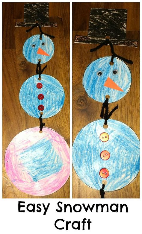 easy snowman crafts for easy winter crafts for preschoolers easy snowman craft