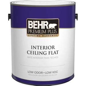 home depot paint for wood behr premium plus 1 gal flat interior ceiling paint 55801