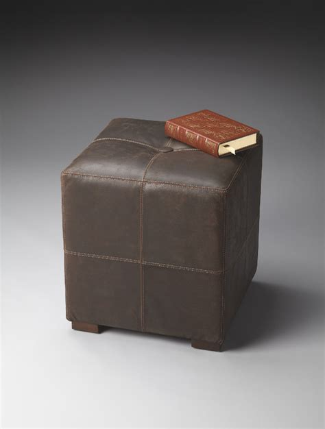 leather cube ottomans leather cube ottoman traditional footstools and