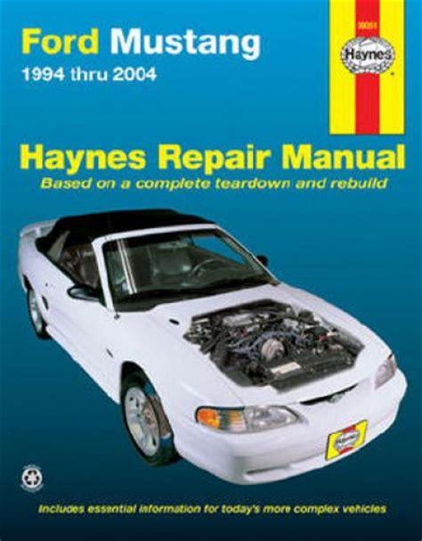 old car manuals online 2008 ford mustang user handbook haynes ford mustang repair manual
