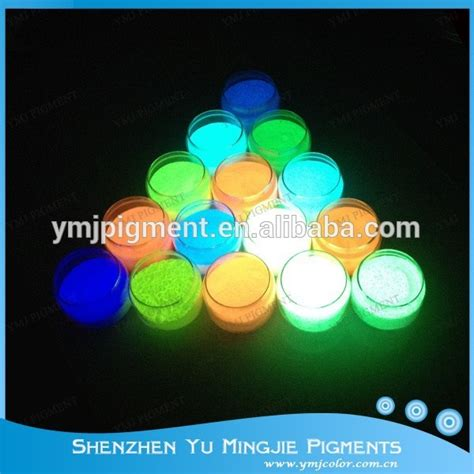 glow in the powder to mix with paint fluorescent pigment glow in the paint powder coating