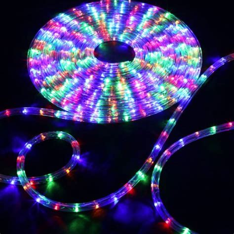 rope light multi color 150 rgb multi color led rope light home outdoor