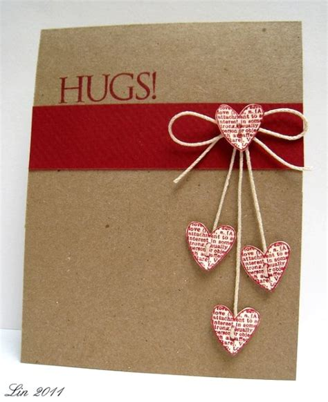 cards ideas adorable valentines day handmade card ideas pink lover