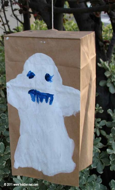 paper bag ghost craft project painting a ghost