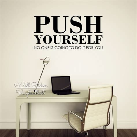 sticker wall quotes aliexpress buy push yourself quote wall sticker