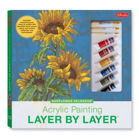 layers of acrylic paint on canvas walter foster books from starvin artist