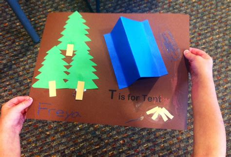 tent craft for cing story time preschool verona story time