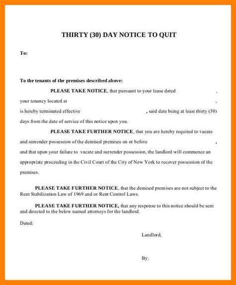 9 tenant 30 day notice coaching resume